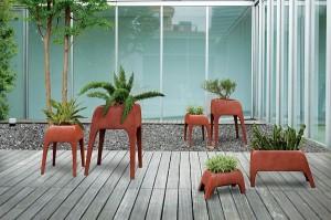 plantenbakken in vorm exotische dieren
