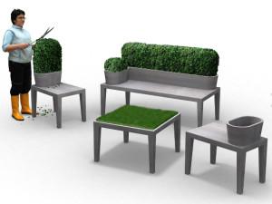Mobilier à jardiner