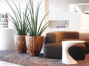 Houten plantenbakken originele plantenbakken for Maceteros para salon