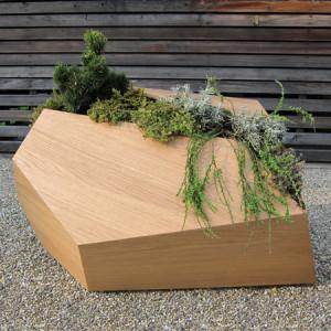 Natuurlijke plantenbakken