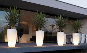 elho verlichte plantenbakken