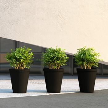 zwarte plantenbak
