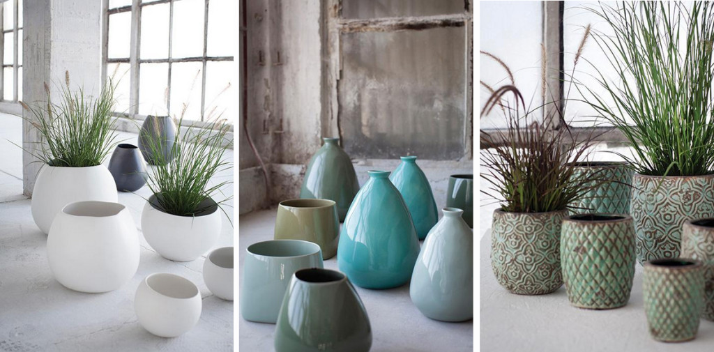 Bloempotten binnen originele plantenbakken for Grote planten voor binnen