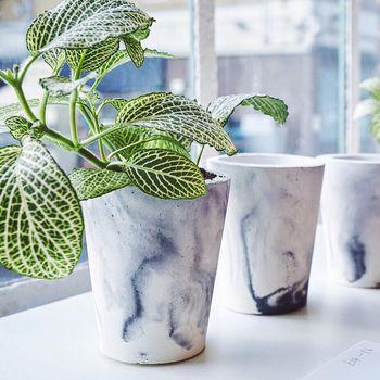 stenen plantenbakken